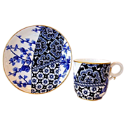 SALE (4) Sets of Royal Worcester Cups and Saucers � Unbelievable 123 YR OLD English Blue and W