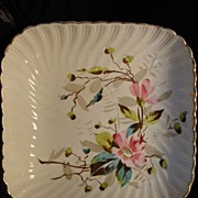 "SALE Beautiful 10"" German Earthenware Master Bowl ~ Hand Decorated with Wild Pink Roses ~"
