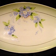 "SALE Double handled 13'' Bavaria Hand Painted Celery Dish Artist ""Rosch"""