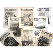 SALE (8) Harper's Weekly Newspapers, Originals with uncut pages, Civil War Dates of 1861 ...