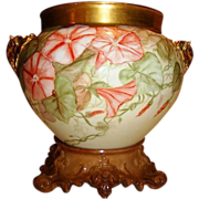 SALE Magnificent and impressive. Large 10 inches tall on the base ~ Limoges Jardiniere with El