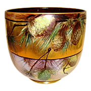 SALE AMAZING Limoges Jardiniere~ Large 9� High and 31� Circumference. LOTS of GOLD! Hand Paint