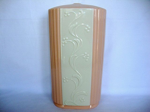 Beautiful Lenox Lamp Base ~ Raised Relief Flowers, Leaves and Stems. 1930's