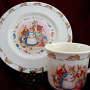 SALE Royal Doulton China ~ 1936 New Arrival  ~Plate and Cup Set ~ Royal Doulton England 1936