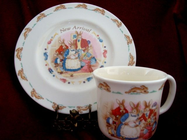 Royal Doulton China ~ 1936 New Arrival  ~Plate and Cup Set ~ Royal Doulton England 1936