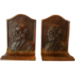 "Nice Vintage Set of Bronze Bookends ~ Henry W. Longfellow ~ K & O Co."" (Kronheim & Oldenbusch) 1895-1939 ."
