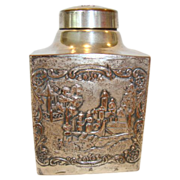 SALE Nice Repousse Tea Caddy ~ Silver over Copper ~  WEBSTER MFG - New York 1860 ...