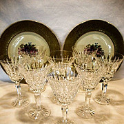 SALE Set of 8 Exquisite Lead Crystal Water Goblets ~ Glenmore Pattern ~ Waterford Crystal ...