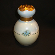 SALE Beautiful Porcelain Sugar / Powder Shaker  / Muffineer ~ Hand Painted with Blue Forget-me