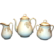 SALE Elegant 5 Piece Coffee Set ~ Coffee Pot, 1lb Sugar and Creamer ~ Limoges Porcelain ~ Whit