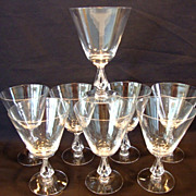 SALE Set of 8 Clear Glasses ~  Beautiful Water Goblets  10 oz~ Symphony pattern #6065  Open S