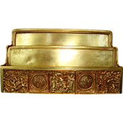 SALE Exquisite Tiffany Gilt-Bronze  Desk Letter / Envelope Holder ~Bookmark Pattern #1020 ~ Ti