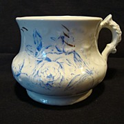 SALE Nice English Shaving Mug ~ Blue Peonies Flowers ~ W.H. GRINDLEY & CO., Ltd ...