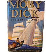 SALE Moby Dick by Herman Melville, 1937 Garden City Publishing, Illustrated by Rockwell Kent.