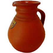 SALE Wonderful ROSSO ANTICO ( Redware / Terra Cotta ) Pitcher ~ Cambridge Ale Shape ~Trinity .