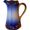 Fantastic French Faience Pitcher / Creamer ~ Cobalt with Colored Enamel ~ Keller & Guerin Luneville France 1890s