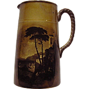 SALE Outstanding English Pitcher with Ship Scenes ~ Royal Vista ~ Ridgways 1880-1900