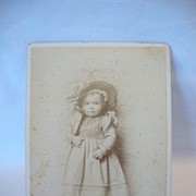 SALE Cabinet Card Photo ~ Little Girl In Hat ~ by Renown Photographer Isaiah West Taber Reno N