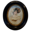 Beautiful Original Watercolor of a Gibson Girl ~ Mahogany Frame ~ Artist Signed H. Gold ~ late 1800s to early 1900s