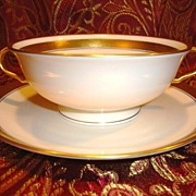 SALE 12 Available Pickard Footed Cream Soup / Bouillon Cups with saucers  ~ Hand Painted with