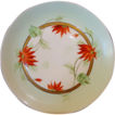 Beautiful Pickard Decorated Porcelain Cabinet Plate ~ Hand Painted with Red Poinsettia�s ~ Pickard Studio Chicago IL ~ 1912-1918