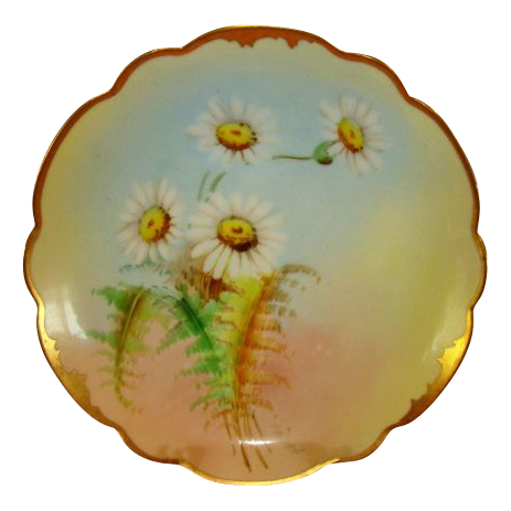"Wonderful Bavarian Porcelain Cabinet Plate ~ signed by Pickard Artist  ""GP Leach"" ~ Rosenthal Bavaria/ Pickard Studios Chicago IL 1905-10"