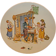 SALE Wonderful French Faience Character /  Story Plate with Child and Mother ~ Enfants Richard