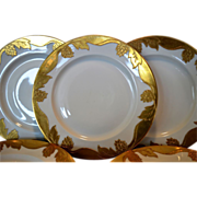 SALE Set of 5 Awesome 10 �� Dinner Plates ~ Haviland Limoges ~ Gold Encrusted ...