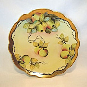 "SALE Gorgeous Plate ~ Limoges Porcelain ~ Pickard Studio ""Green Apple Cluster"" by AN"