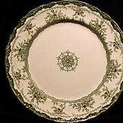 "SALE Exquisite Old Green Transferware English ~""Alexandria"" Pattern~ Dunn & Bennett"