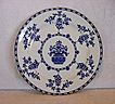 Large Blue & White Cabinet Plate ~ Pattern The Duchess By  Doulton & Burslem 1891+