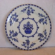 SALE Large Blue & White Cabinet Plate ~ Pattern �The Duchess� By  Doulton & Burslem 1891+