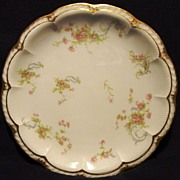 SALE Dainty Limoges Porcelain Cabinet Plate ~ Hand Decorated with Soft Pink Flowers ~ Haviland