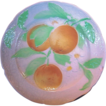 : BEAUTIFUL Antique French Majolica Faience Plate with Oranges or Lemons ~ St Clements, France 1880-1910