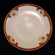 SALE Wonderful Bavarian Porcelain Cabinet Plate ~ Hand Painted with Daisies by Caines Studio A