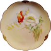 Wonderful Bavarian Porcelain Cabinet Plate ~ Hand Painted by Pickard Artist �Florence James� with Poppies ~ Rosenthal Bavaria/ Pickard 1905-1910