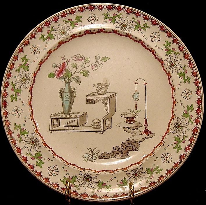 Beautiful Aesthetic / Japonesque Earthenware Plate – Copeland 1850-1867