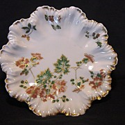 SALE Exquisite Limoges Porcelain Cabinet Plate ~ Hand Decorated with Orange Flowers ~ A. Lante