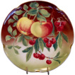 Wonderful  Majolica 12  Charger with Apples and Cherries ~ KELLER & GUERIN - ca. 1890s - 1930s