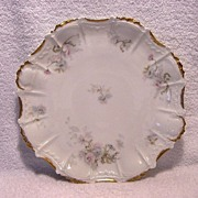 SALE Gorgeous Limoges Porcelain 12� Charger / Platter ~ Factory Decorated with Soft Flowers ~