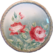 SALE Colorful French Majolica Faience 14 1/2 � Charger With  Dark Pink Roses ~ Keller ...