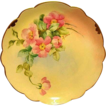 Amazing Bavarian Porcelain Cabinet Plate ~ Hand Painted by Pickard Artist  � Florence James � with Pink Roses ~ Rosenthal Bavaria/ Pickard 1905-1910
