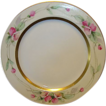 Beautiful Limoges Porcelain Plate ~ Hand Painted with Pink Flowers by Pickard Artist �Challinor� ~ Haviland France / Pickard Studios Chicago IL 1905-1910