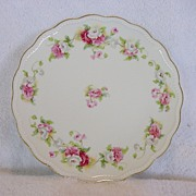 SALE Nice Limoges Porcelain Cabinet Plate Studio Decorated with White,Pink & Red Poppies ~ A L