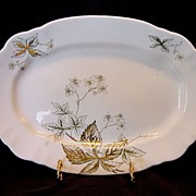 SALE Awesome 118 Year Old English Platter ~ �Virginia Pattern� John Edwards England 1891