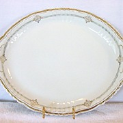 SALE Amazing Austrian Porcelain Platter With Blue and Gold Decorations ~ Victoria Austria ~ 19