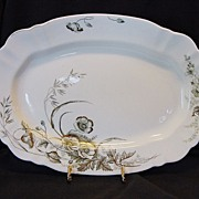 SALE Awesome 118 Year Old English Platter ~ Design of Poppies with Gold  ~ John ...