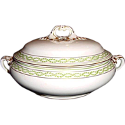 SALE TUREEN-COVERED DISH by Booths ca. 1906. This will make a LARGE and IMPRESSIVE ...