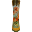 Awesome Austrian Porcelain Vase ~ Hand painted with Orange Poppies and Daisies ~ Signed L. Banzhaf  1920�S