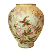 SALE Beautiful Limoges Porcelain Vase ~ Matte Finish with Hand Painted Pink Flower ~ R. DELINI